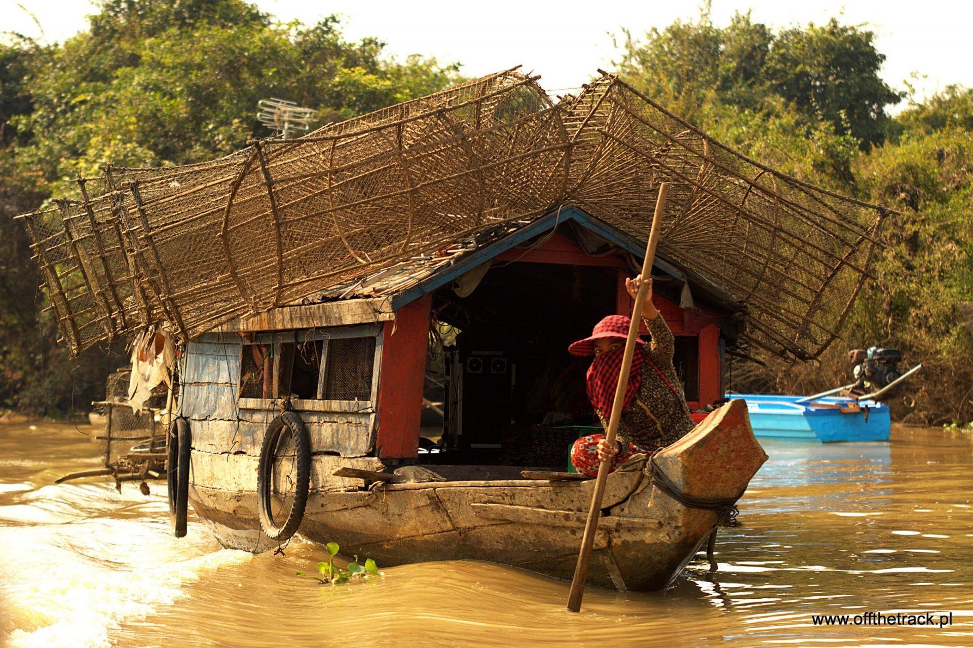 Kambodża Łódką z Battambang do Siem Reap