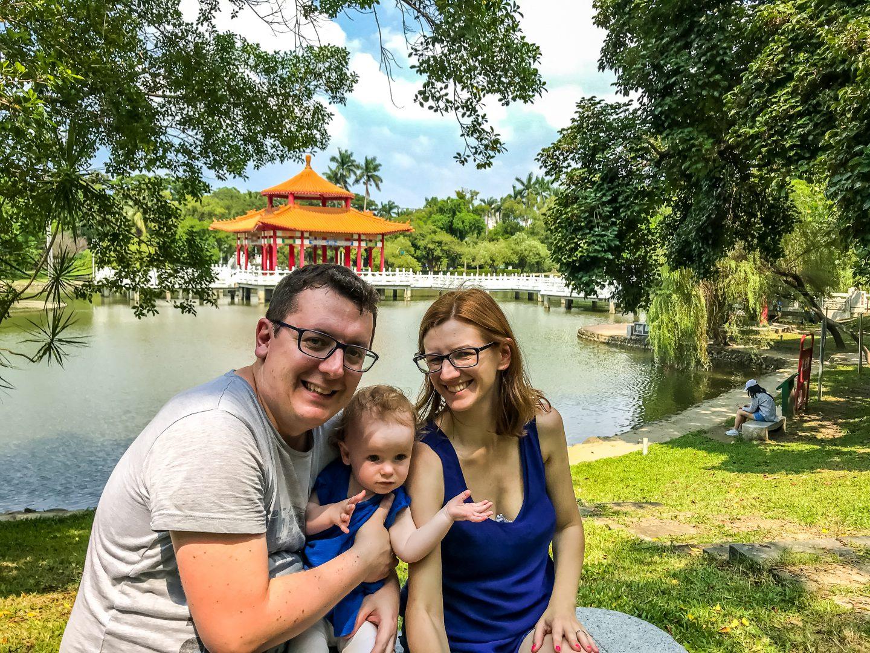 Tajwan Tainan z dzieckiem